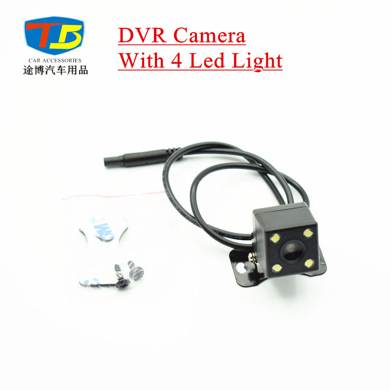 12V Car DVR Camera Vehicle Car Rear View Camera Parking Camera Night Vision with 4 Led