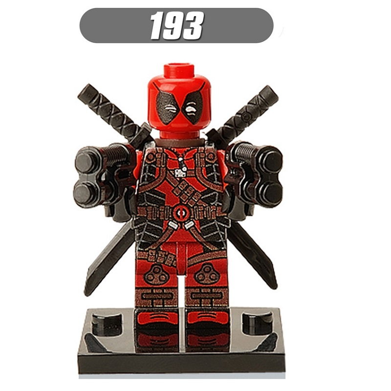 Single Sale Comics Super Heroes Deadpool Studios Bricks Action Building Blocks Education Learning Toys Christmas Gift XH 193