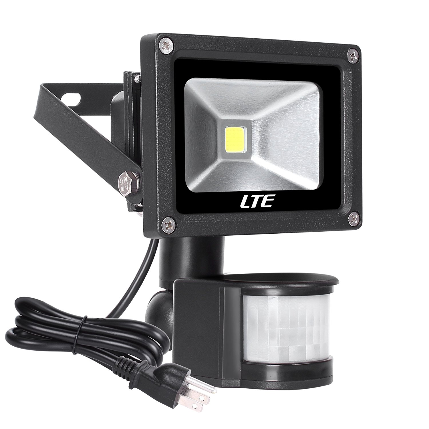 Motion Sensor Flood Light, LTE Waterproof Outdoor Security LED 10W 760LM Daylight White with PIR for Home Garden Garage Etc ultrathin led flood light 200w ac85 265v waterproof ip65 floodlight spotlight outdoor lighting free shipping