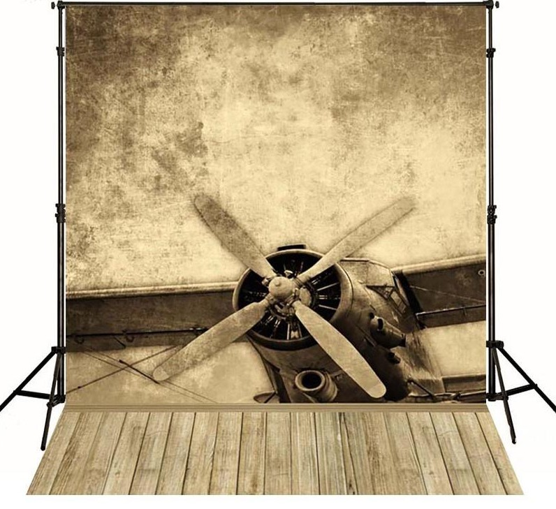 Wood Aircraft Vintage Airplane Photo Studio Background