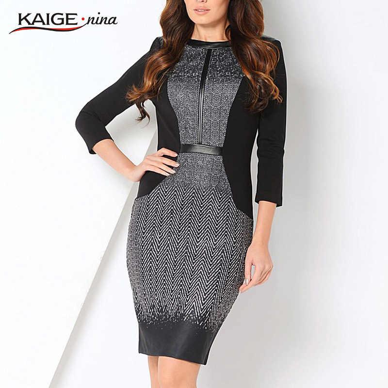 e6985c1f7f457 Kaigenina новинка горячая распродажа Сексуально профессионального одежда  подходит все женщины платье новинка полосатый прямые о-