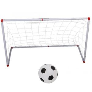 Image 2 - 106/120cm Indoor Outdoor Mini Children Football Soccer Goal Post Net Set with Ball Pump Kids Football Sport Toy Official Size