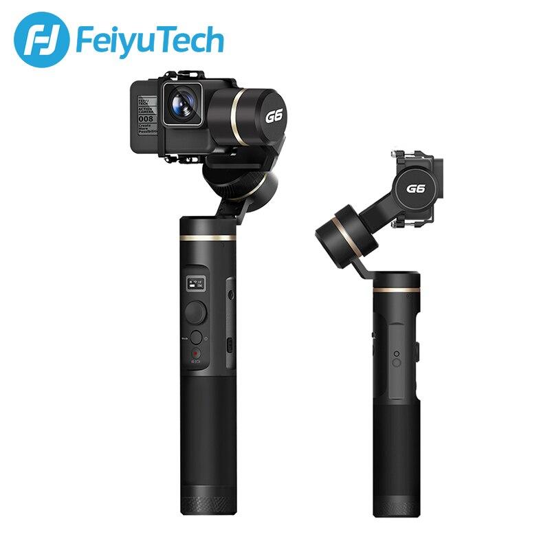 FeiyuTech G6 A Prova di Spruzzi Handheld Gimbal Stabilizzatore di Azione Della Macchina Fotografica Wifi + Bluetooth Schermo OLED per Gopro Hero 6 5 Sony RX0