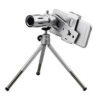 HD 12x Optical Zoom Telephoto Lens Telescope With Clip Tripod Holder Bluetooth Remote Control Shutter Camera