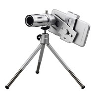 HD 12x Optical Zoom Telephoto Lens Telescope With Clip Tripod Holder Bluetooth Remote Control Shutter Camera