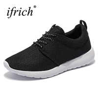 2017 New Sport Sneakers Me Black White Sport Men Shoes Lace Up Training Sneakers Mesh Athletic