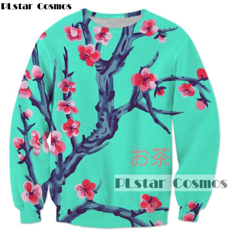 PLstar Cosmos 2017 moda sudadera hombres/mujeres Streetwear manga larga sakura Arizona té 3d impresión casual ropa deportiva