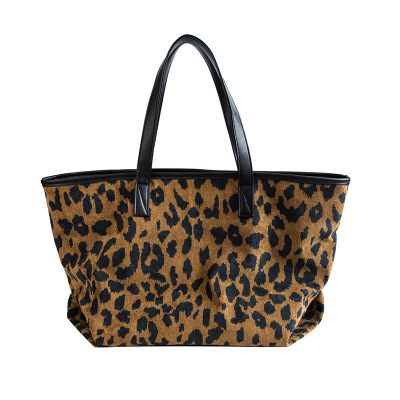 купить NEW Large Capacity Women shoulder Bags High Quality ladies Solid Big Leopard Print Handbags Female Top-handle Bags Fashion totes по цене 1223.28 рублей