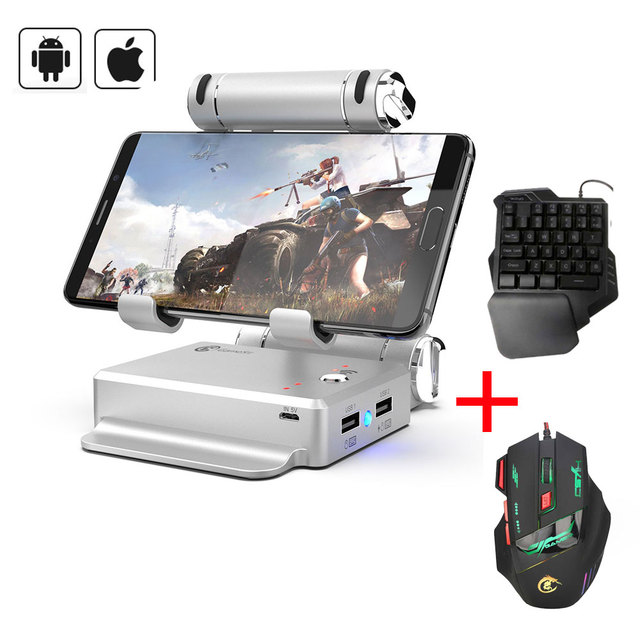 GameSir X1 BattleDock Converter Stand Docking for PUBG, Fortnite, FPS Game with G30 Wired Gaming keyboard and Mouse