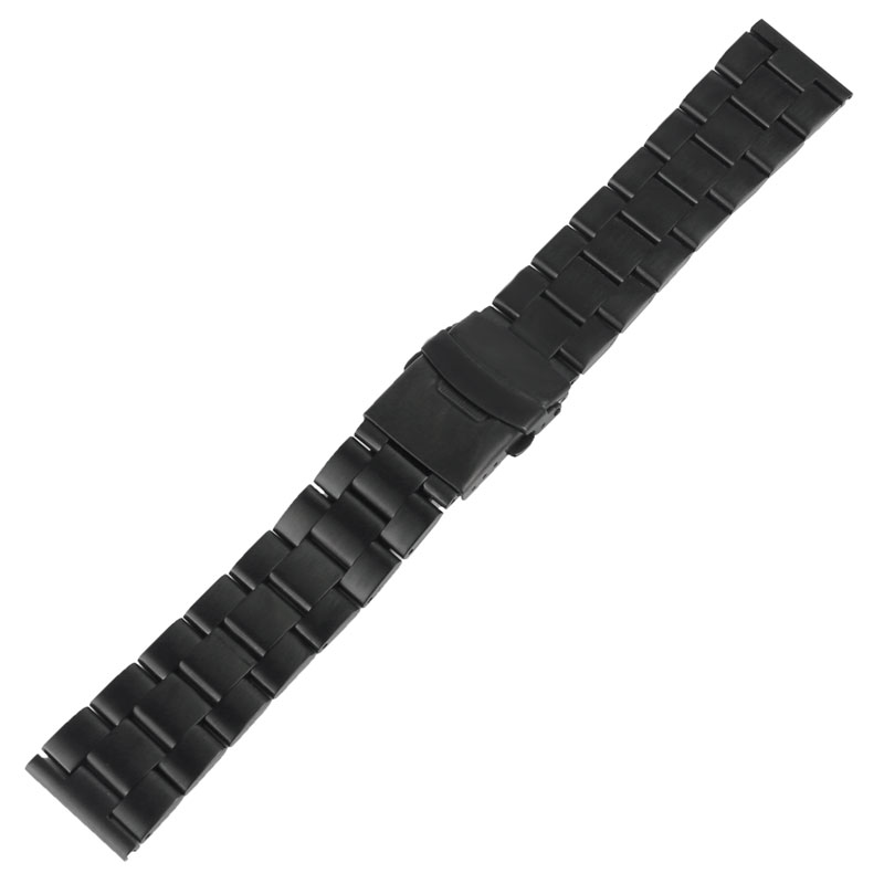 20mm/22mm Stainless Steel Black Solid Link Men Replacement <font><b>HQ</b></font> Watchband Luxury Bracelet <font><b>Watch</b></font> Band Wrist Strap image
