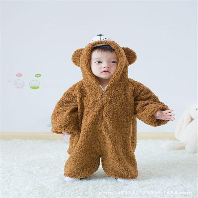 Online Shop Newborn sleeper baby animal bear bath towel robe baby ...