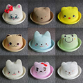 TDX-C5 Bear strawhat male female child child hat baby summer bucket hats lovely sunbonnet sun hat