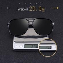 Polarize Men Oversize Square Mirror Retro Sunglasses SF