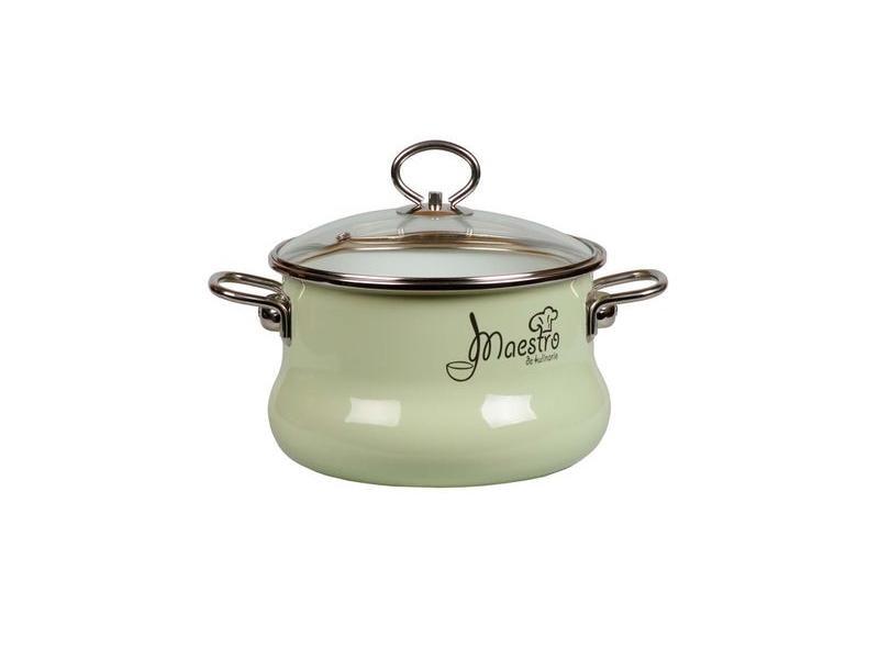 Pan VITROSS, Maestro, 3 L, with glass cover, light green pan vitross fruits 3 l with glass cover
