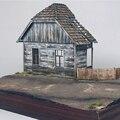 1/35 holz Europäischen Haus Diorama Battlefield Ruinen Militär Gebäude Szenen Kit