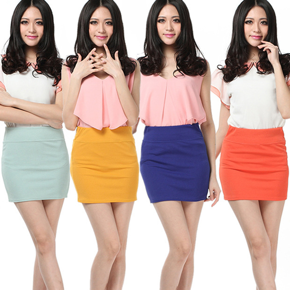 Free Shipping Fashion Womens Sexy Mini Skirt Slim -5730
