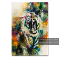 Skills Artist Team Offer High Quality Tiger Oil Painting for Living Room Decoration Hand painted Canvas Tiger Oil Painting