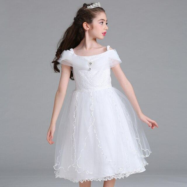 Bentain 4 14 Years Girls Princess Ball Gown Dress Fashion White Kid ...