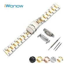 Montre En Acier inoxydable Bande 18mm pour Samsung Gear Fit 2 SM-R360 Sécurité Boucle Courroie de Poignet Bracelet Noir Argent + adaptateurs