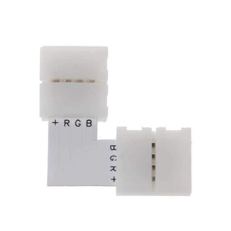 4 ขั้วต่อ LED L มุมตัวแยกมุม 10 มิลลิเมตร 5050 RGB LED Strip Light