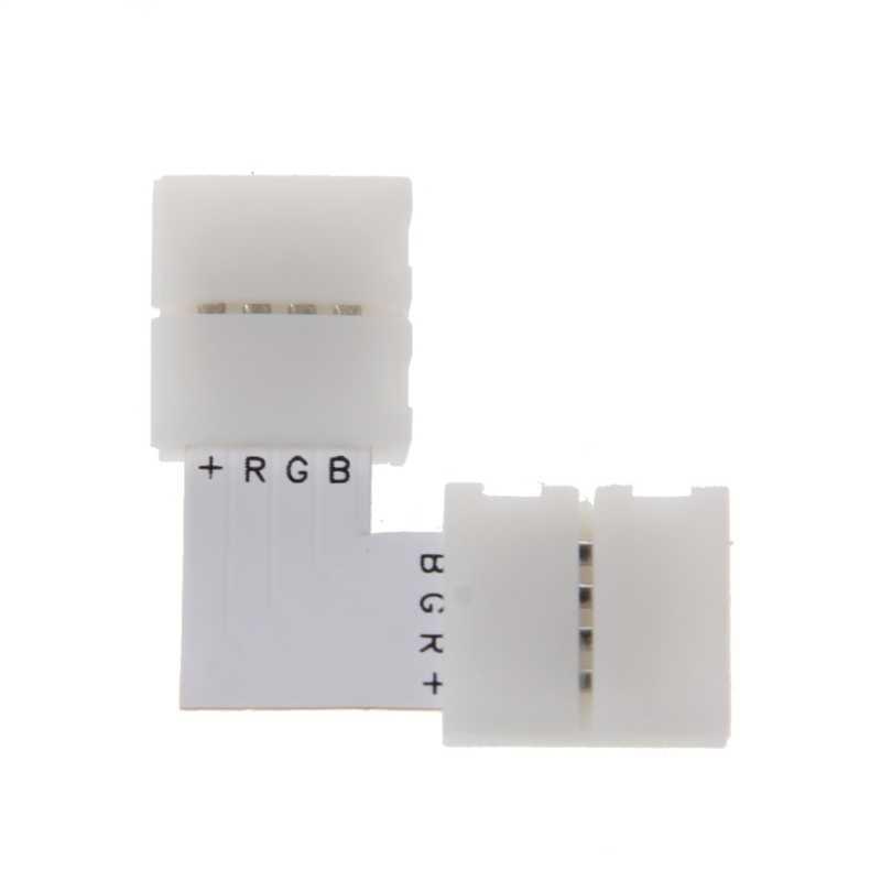 4 Pin złącze led L kształt rogu szybki rozdzielacz kąt prosty 10mm 5050 listwy rgb led światła