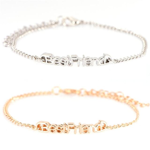 US $0 66 16% OFF|Best Friend Letter Bracelets Friendship Bracelet Pulseras  Jewelry Gifts best friend Bracelets Bangle for girl and women-in Charm