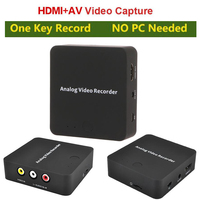 Analog AV Recorder convert old video camcorder tapes to digital save in SD Card for VHS VCR DVD Play DVR Hi8 HDMI Out No Need PC