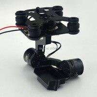RTF (klaar Fly) 3 axis borstelloze gimbal fpv stablizer/w alexmos bgc v2.4 volledig gemonteerd voor gopro3 hero 3-big board