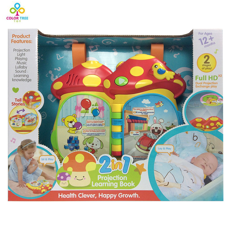 Educational Early Learning Machine Story Book Toys for Children Machine With Projection Light Music Interactive Toys