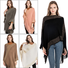 Best Selling Boutique Acrylic Five Colors Cloak Type Soft Imitation Cashmere Tassel Shawl Spring Summer Autumn Womens Clothing