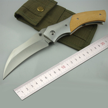 Free shipping High hardness Sharpest Camping Folding D2 steel Knife  The sharp outdoor folding knife