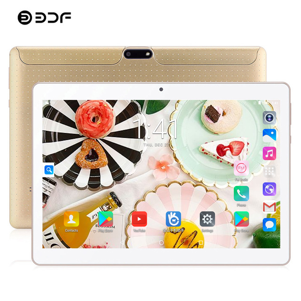 Free Shipping BDF Tablet 10 Inch Tablet Pc Android 7.0 Tablet Octa Core 4GB/64GB Tab Bluetooth WiFi Mobile Phone 3G Tablet 10.1