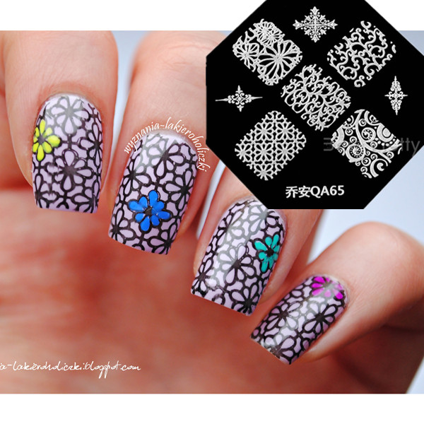1Pc Nail Art Stamp Stamping Template Exquisite Arabesque Floral ...
