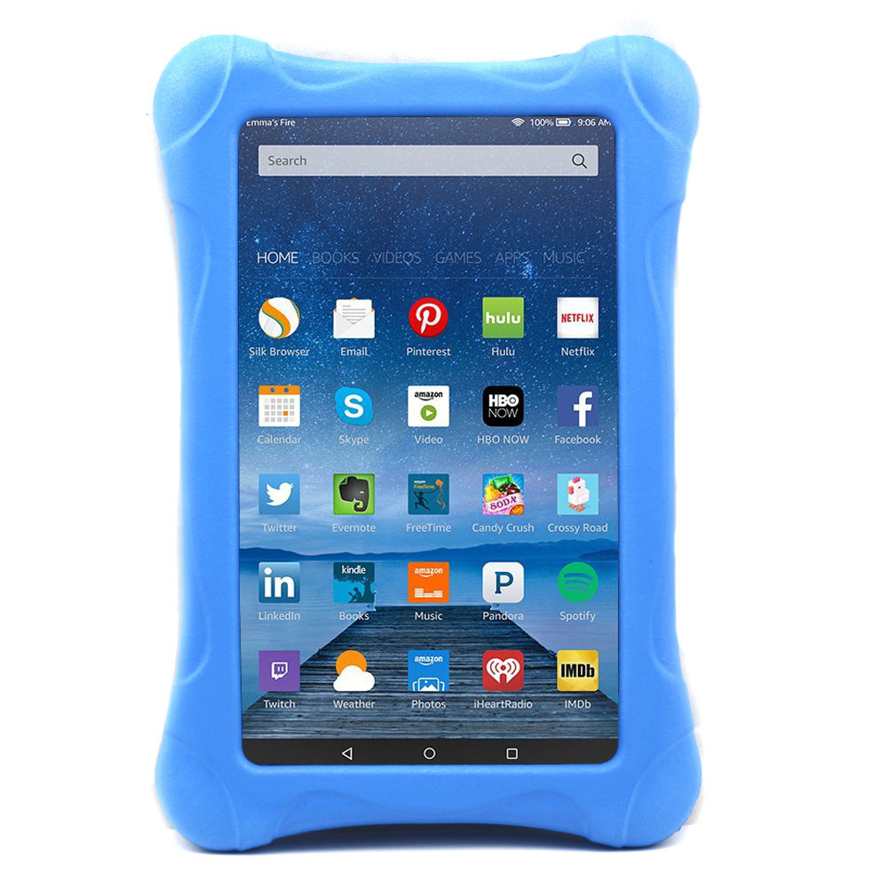 detailed look a566c c922a US $13.99 10% OFF|Kids Shockproof Case Cover For Amazon Kindle Fire 7 2015  2017 Children Thick Foam EVA Back Cover 7 inch Tablets Sleeve Case-in ...