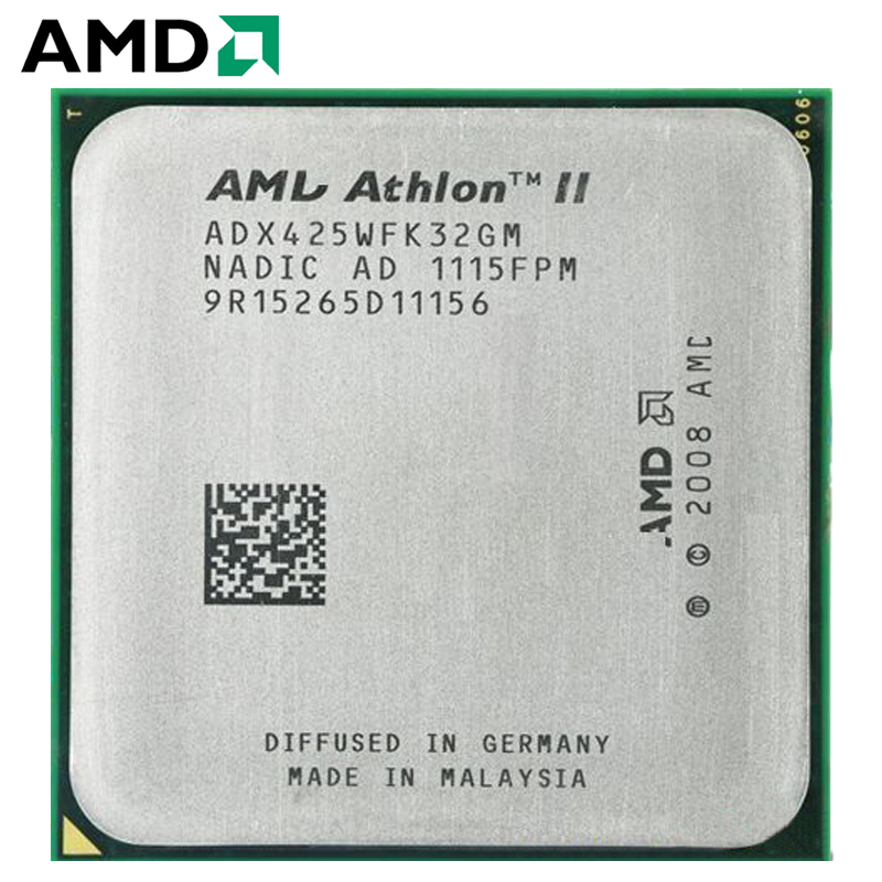 AMD Athlon II X3 425 CPU Socket AM2+ AM3 95W 2.7GHz 938-pin Three-Core Desktop Processor CPU X3 425 Socket Am2+ Am3