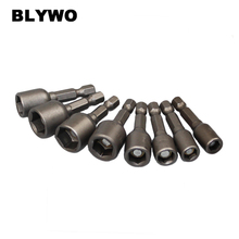 8 pieces 6-13mm Strong Magnetic Hex Socket set 1/4 inch Nozzles Nut Driver kit Drill Bit Adapter Wind Approved 8pcs 6 13mm magnetic hex socket nut setters driver bits 65mm length electric screwdriver socket nut driver set socket adapter