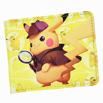 New Arrival Pokemon Detective Pikachu wallet Anime Cartoon Short Purse With Coin Pocket