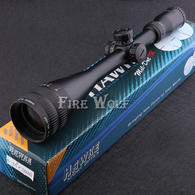Бесплатная доставка хороший Спорт оптика Затмение 6-24x50 прицел, подсветкой MIL-точка ИК сетка, 1/4 МОА, 25.4 мм трубки