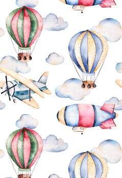 HUAYI 5x7ft Vertical Fire Balloon Backdrop Art Fabric Photography Prop Newborn Background XT-5656 - discount item  25% OFF Camera & Photo