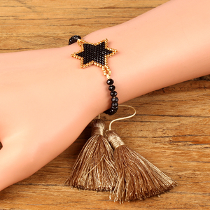 Image 2 - Shinus Lote de pulseras MIYUKI para Mujer, 10 unidades, joyería 2019, pulseras de parejas de estrellas, brazaletes bohemios hechos a mano para verano