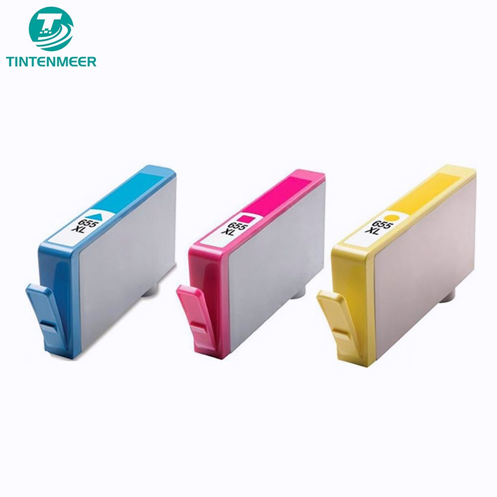 TINTENMEER compatible 655 ink cartridge CZ109AE CZ110AE CZ111AE CZ112AE compatible for hp Deskjet Ink Advantage 3525 printer image