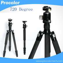 4 Sections Professional Portable Aluminum DSLR Camera Tripod Monopod 1.93m Height + 720 degree Panoramic Ball Head