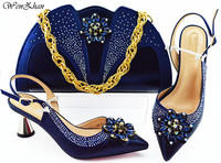 Fashion Women nice color Shoes And Bag Set To Match 7cm High Quality Italian Shoes With Matching Bags For Party! WENZHAN B93 2