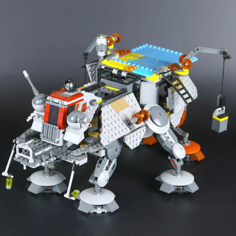LEPIN 05032 Star Captain Model Rex's Set AT Toy TE Educational Building Blocks Brick War Toy Gift Compatible LegoINGys 75157 lepin 05040 y attack starfighter wing building block assembled brick star series war toys compatible with 10134 educational gift
