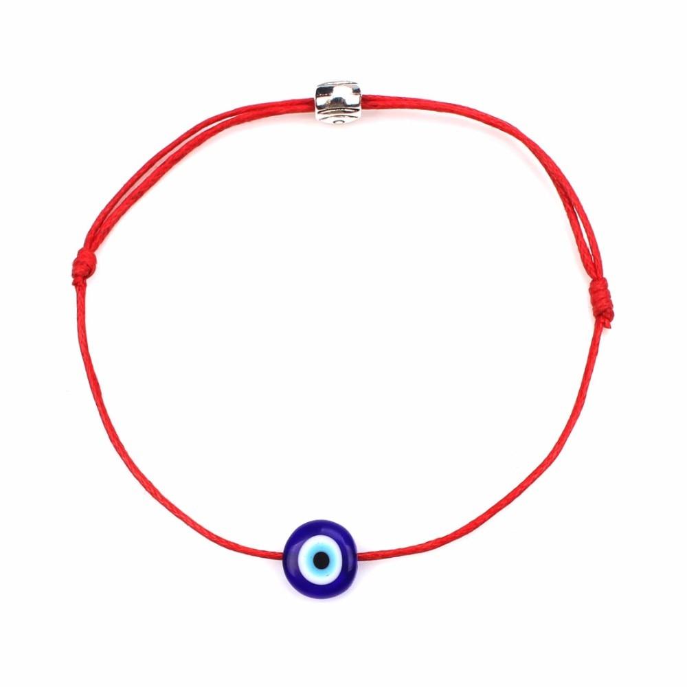 Турецкие Браслеты Lucky сглаза для женщин 6 цветов плетеная веревка ручной работы ювелирные изделия на удачу красный браслет для женщин
