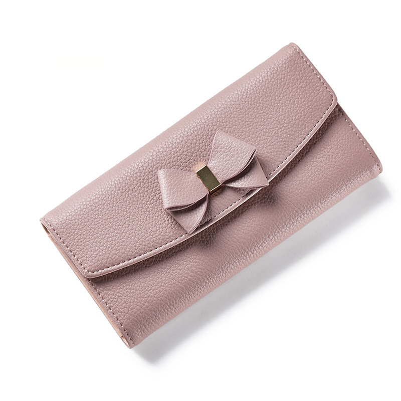 Forever Young Wallet Female Womens Wallets and Purses Card Holder Phone Perse long Purse Organizer Leather Large Coin Bow Money vintage women short leather wallets stylish wallet coin card pocket holder wallet female purses money clip ladies purse 7n01 18