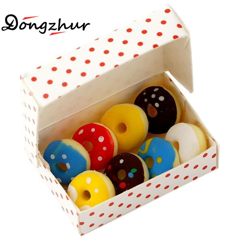 Dollhouse Miniatures Colorful Macaron in Plastic Hole Box 1:12