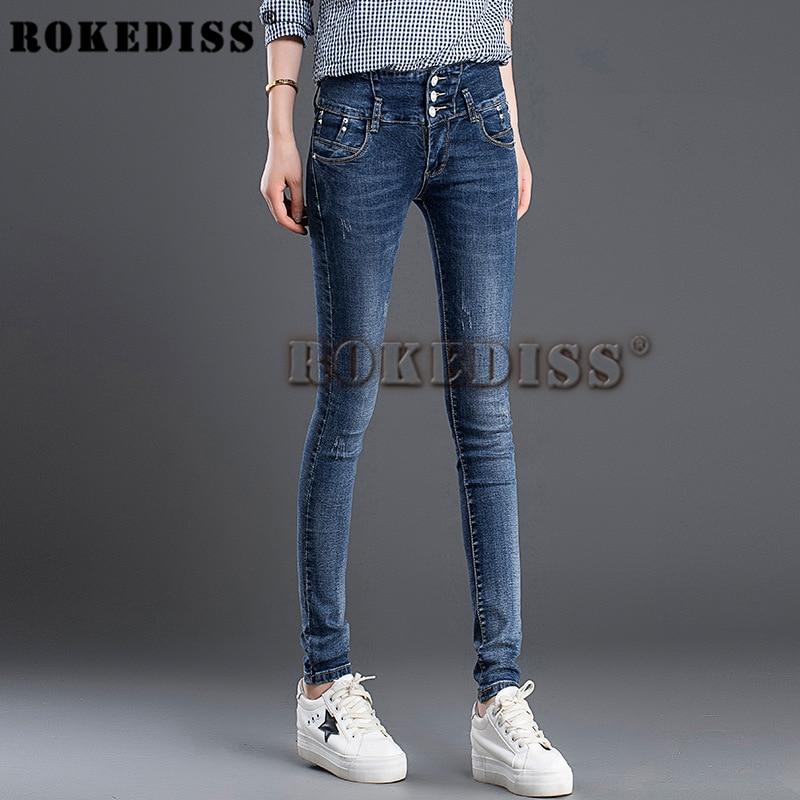 Autumn Fashion High Waist jeans High Elastic plus size Women Jeans woman femme washed casual skinny pencil Denim pants C060 autumn fashion high waist jeans high