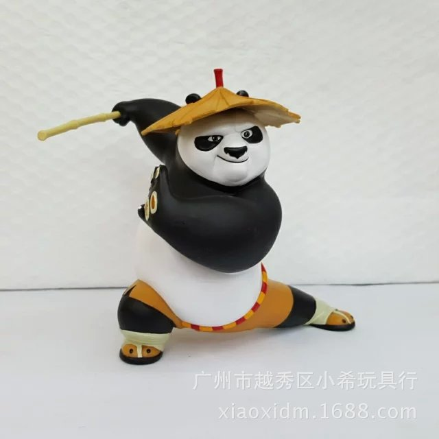 2016 sell like hot cakes Anime around 15 cm 3 Po kung fu panda wearing a hat to evade glue hand model doll birthday gift