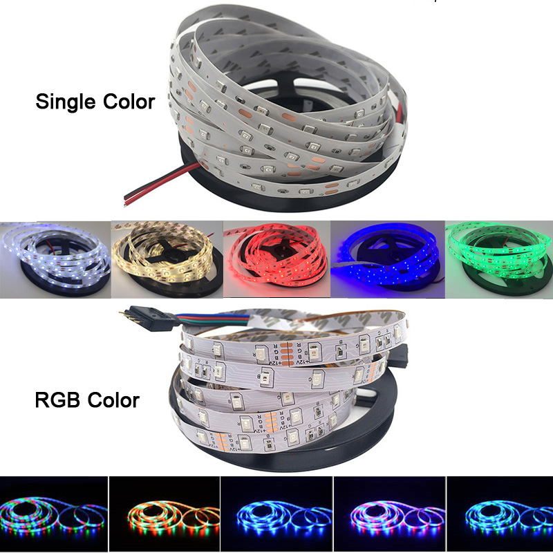 5 meter 300Leds Non waterproof RGB Led Strip Light 2835 DC12V 60Leds M Flexible Lighting Ribbon 5 meter 300Leds Non-waterproof RGB Led Strip Light 2835 DC12V 60Leds/M Flexible Lighting Ribbon Tape +24key Controller fita led